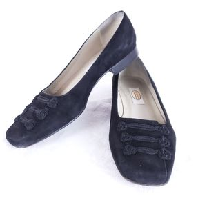 Talbots Womens Black Suede flats Size 6